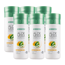 LIFETAKT Aloe Vera Drinking Gel Traditional s medem série 6 ks - 6000 ml
