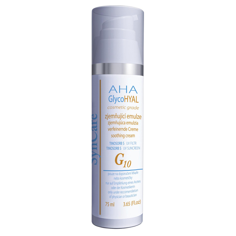 Syncare AHA GlycoHyal G10 Zjemňující emulze - UV filtr