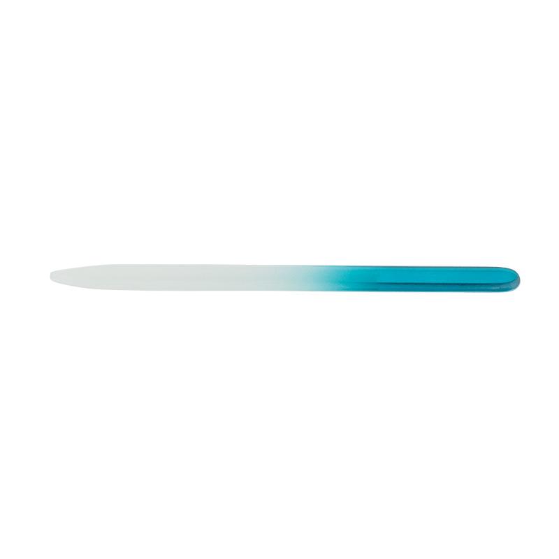 Pilník skleněný oboustranný 14 cm - modrý