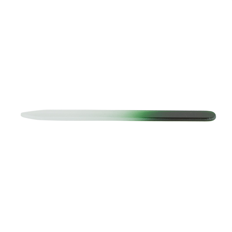 Pilník skleněný oboustranný 14 cm - zelený