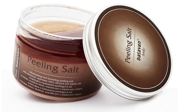 Batavan Body Peeling Salt - skořice