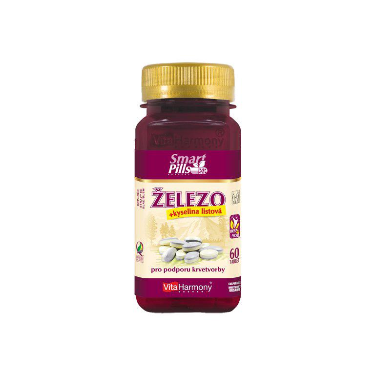 Vitaharmony Železo s kyselinou listovou - SmartPills, dvouvrstvá tableta