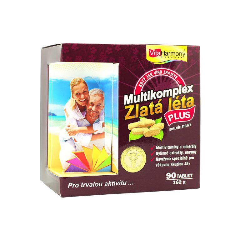 Vitaharmony MultiKomplex Zlatá léta PLUS - multivitaminy pro 45+ leté