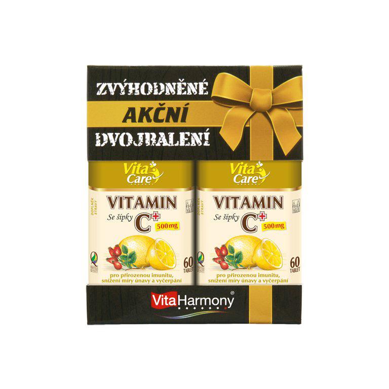Vitaharmony Zvýhodněné dvojbalení - Vitamin C 500 mg se šípky