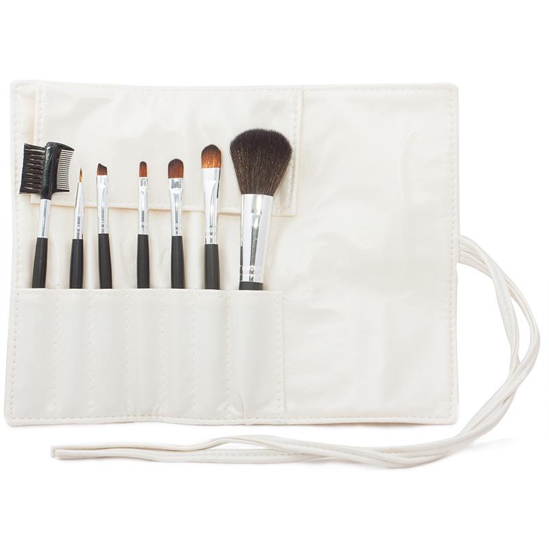 Kosmetická sada štětců pro make-up - 7 ks - bílé pouzdro