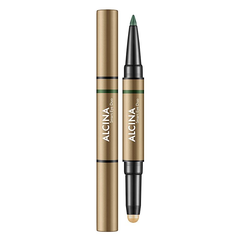 Alcina Oční stíny a kajalová tužka v jednom - Smart Eye Duo - Golden green